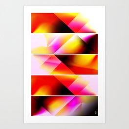 Psychedelic Stairway (Five Panels Series) Art Print