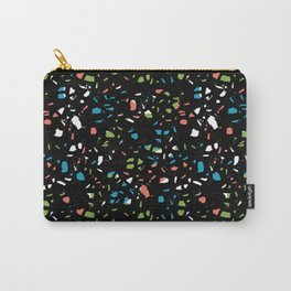 Abstract terrazzo bright colorful pattern design trendy pattern print Carry-All Pouch