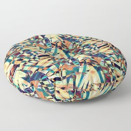 Wild Geometric Party Abstract Geo Pattern Floor Pillow