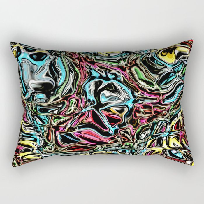 Distorted Reflection of Colors Rectangular Pillow