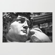 the David's face, Florence Tuscany Rug
