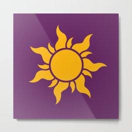 Tangled Rapunzel Sun Logo - Corona Symbol Metal Print