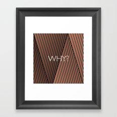 Why? Framed Art Print