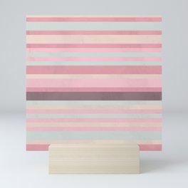 Pattern Stripes Color Alabaster Mountbatten Mini Art Print