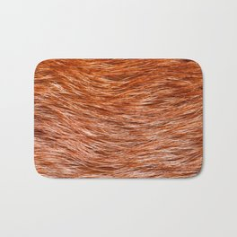 Red fox fur pelt texture cloth abstract Bath Mat