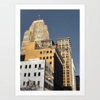 buildings Art Prints featuring BUILDINGS by detroit vibes