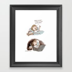 Go to sleep. Framed Art Print