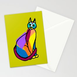 Colorful Cat Hero Stationery Cards