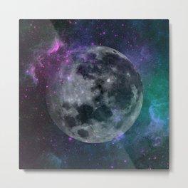 Fading Moon Metal Print