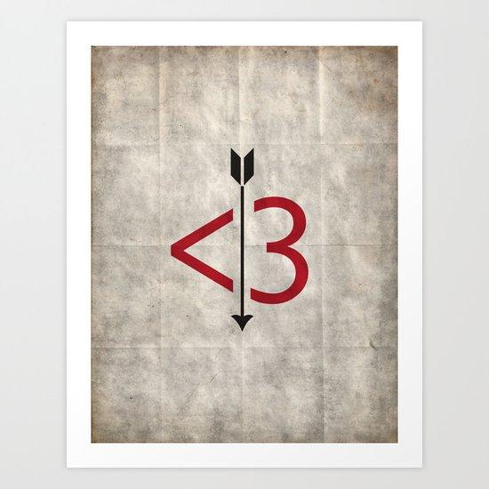 A Typo Love Art Print