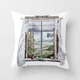 Outlander Window Throw Pillow