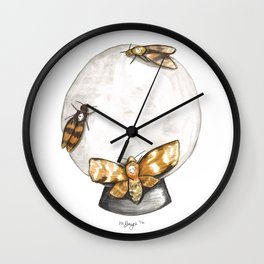 Deathmoths Wall Clock