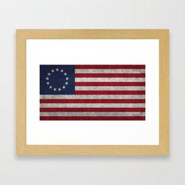 Thirteen point USA grungy flag Framed Art Print