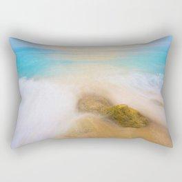 The Beach Long Exposure (Color) Rectangular Pillow