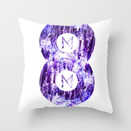Vinyl abstract Throw Pillow