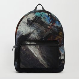 Dark painted abstract art Backpack