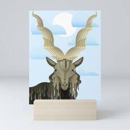 Markhor - Screw horned goat Mini Art Print