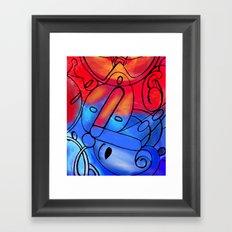 Red Blue Framed Art Print