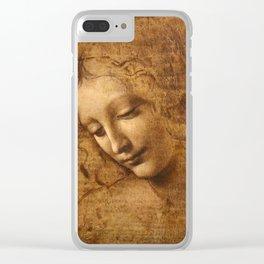 Head of a Woman Painting by Leonardo da Vinci Clear iPhone Case
