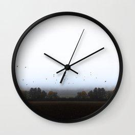 MISTY OCTOBER DAY-VI Wall Clock