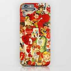 Vintage Valentine Cards - Love, Humor, Funny, Mermaids, Seahorse, Red Hearts,Couples, Reto Inspired iPhone 6s Slim Case