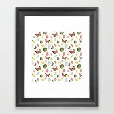 butterflies and plaid Framed Art Print