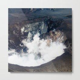 Watercolor Landscape, Eyjafjallajokull 02, Iceland Metal Print