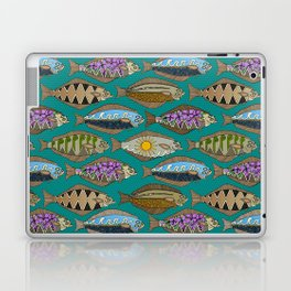 Alaskan halibut teal Laptop & iPad Skin