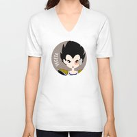 vegeta V-neck T-shirts featuring Vegeta by gaps81