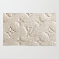 lv Area & Throw Rugs featuring Cream LV by I Love Decor