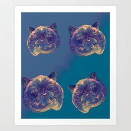 Der the Cat Leggings Art Print