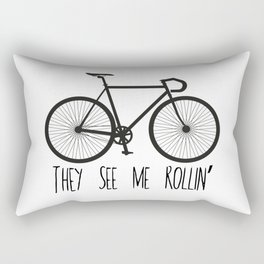 They See Me Rollin' Bicycle - Men's Fixie Fixed Gear Bike Cycling Rectangular Pillow