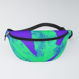 Blue Ultraviolet Green Earth Day Fern Fanny Pack