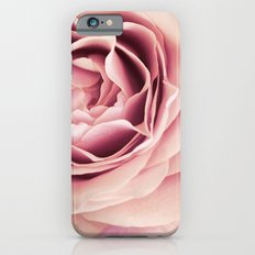 My Heart is Safe with You, My Friend - pale pink rose macro Slim Case iPhone 6