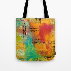 Mixed Media Abstract 1 Tote Bag