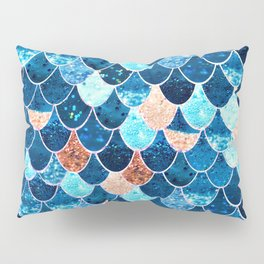 REALLY MERMAID BLUE & GOLD Pillow Sham