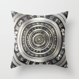 Infinite Bearing Vortex Throw Pillow