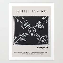 Keith Art, Exhibition Poster, Japan Vintage Print Art Print