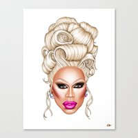rupaul Canvas Prints featuring RuPaul Blonde  by dannydax