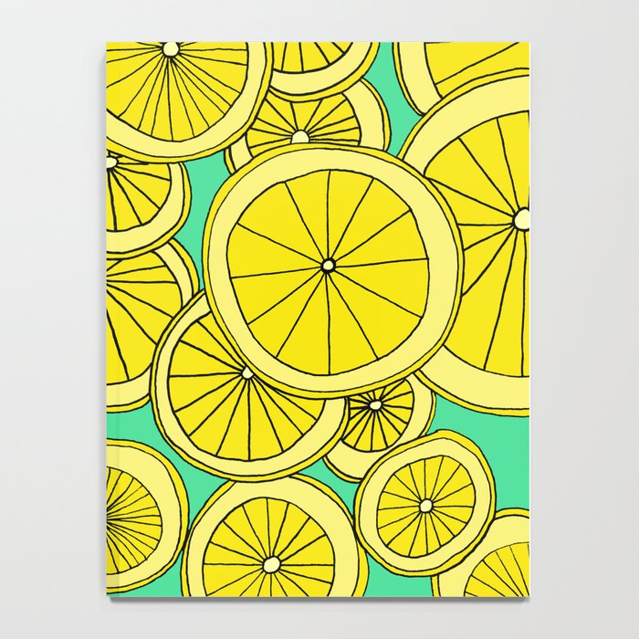 Lemons by Emma Freeman Designs Notebook