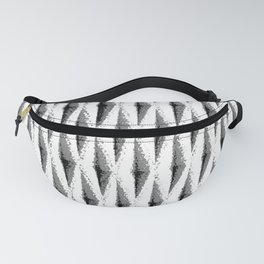 Grey/Gray diagonal woven texture - for a punchy monochrome look Fanny Pack