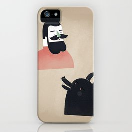 talk to me, wolf! iPhone Case