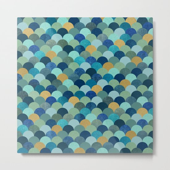 Ocean Pebbles Metal Print