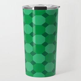 Green Octagons Travel Mug