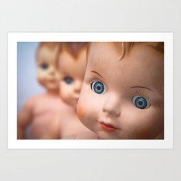 Baby Blue Eyes Art Print