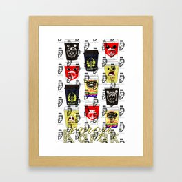 Karak emoji Framed Art Print