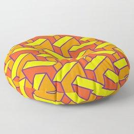 Orange Meanies Floor Pillow