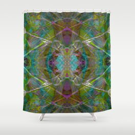 Trippy Kalidoscope Pattern - 100.1 Shower Curtain