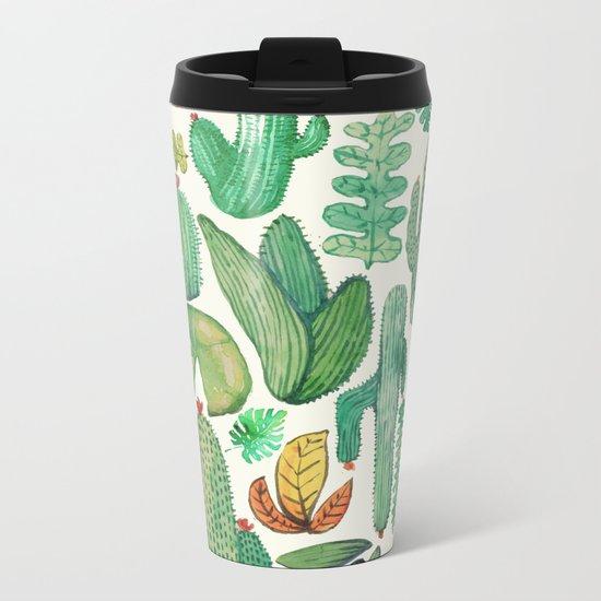 nature pattern collab. Metal Travel Mug