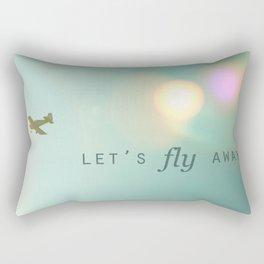 Let's Fly Away Rectangular Pillow